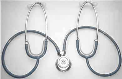 Sprague-Rappaport headed TEACHING STETHOSCOPE with compact binaurals.